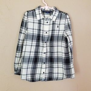 Girls Polo plaid shirt